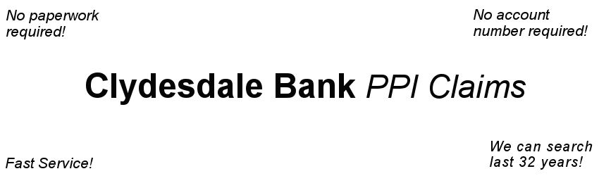 Clydesdale Bank PPI Claim