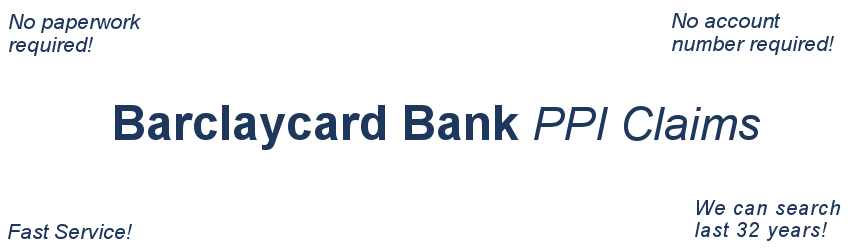 Barclaycard PPI Claim